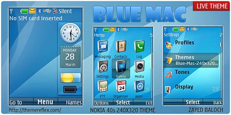 nokia 5130 live themes blue mac live theme for nokia x2 240 215 320 themereflex