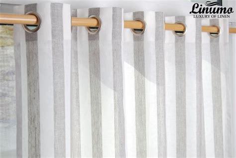 leinen gardine weiss natur gestreift 145x235cm m05c33215 - Gardinen Grau Weiß Gestreift