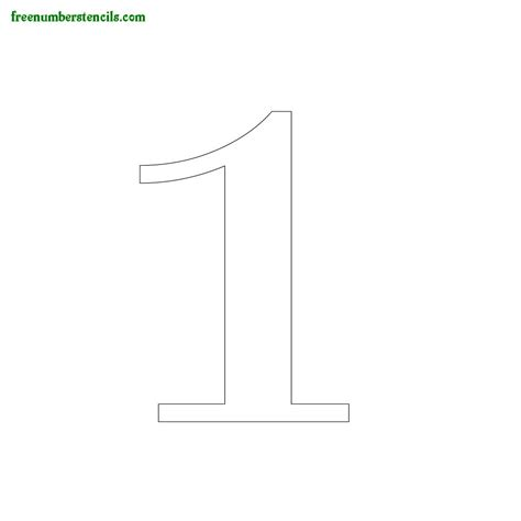 free number templates printable serif number stencils online