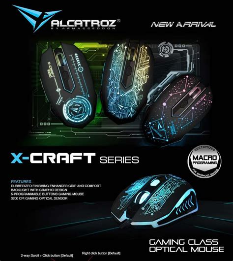 Alcatroz Mouse Gaming X Craft 5000 Gaming Mouse Free Mousepad 1 alcatroz x craft 5000 gaming mo end 3 16 2018 4 15 pm