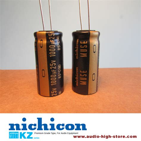 nichicon capacitors nichicon muse kz 1000uf 25v audio grade capacitor