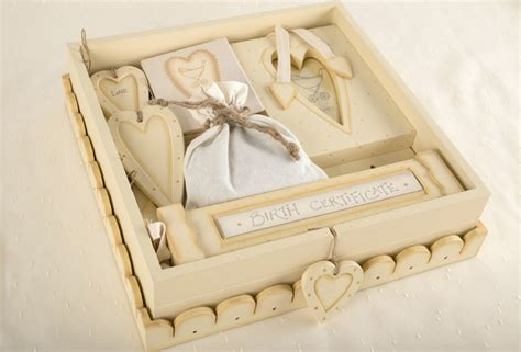 Handmade Baby Keepsake Box - handmade baby set and keepsake box baby gifts from