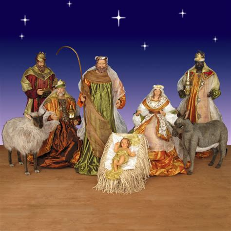 where to get life nativity set size nativity set in resin and fabric 5 ft scale 10