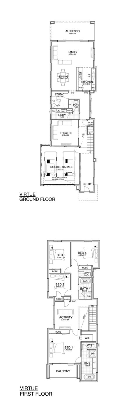 modern house plans narrow lot