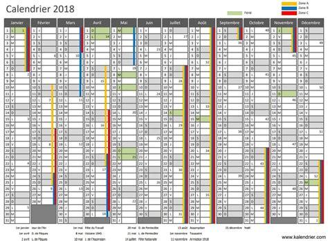 Calendrier 2018 Avec Numero Semaine Calendrier 2018 224 Imprimer Jours F 233 Ri 233 S Vacances