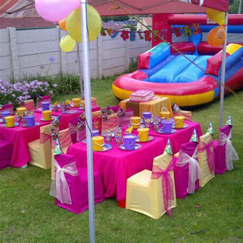 themed kiddies party decor decor hire jumping castles cape town
