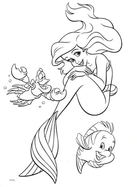 ariel coloring pages free printable