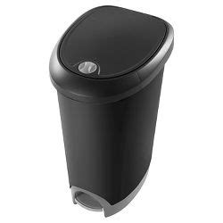 upc 764053494307 threshold stainless steel top open hefty 12 7 gallon step on lid lock trash can silver target
