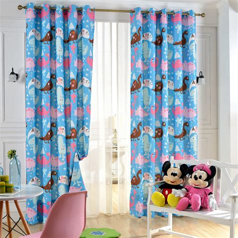 Cute Blue Bedrooms For Kids Dinosaur Curtains