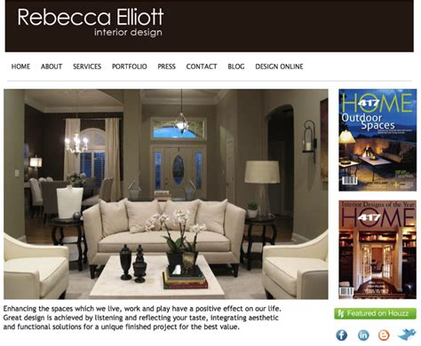 gallery of interior design portfolio websites home decor