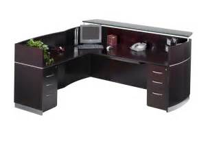 L Shaped Receptionist Desk by Mayline Nrslbb Napoli L Shaped Reception Desk With 3