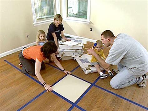 install carpet tiles hgtv