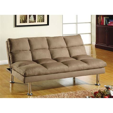 Microfiber Futon Sofa Bed by Saratoga Brown Microfiber Futon Sofa Bed