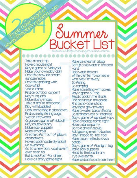summer bucket list list for crazy teens apexwallpapers com free printable summer bucket list 2014 50 summer ideas