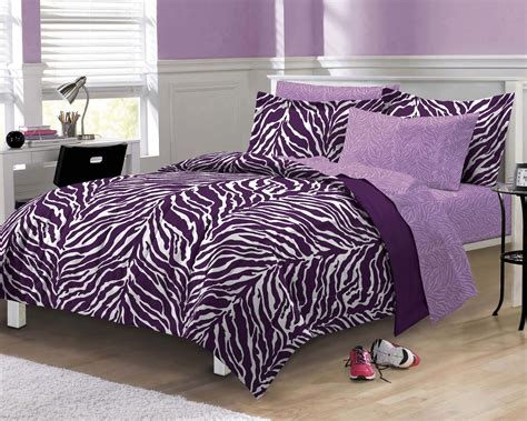 Zebra Stripe Bedding Set Purple Zebra Stripe Bedding Set Animal Print Comforter Sheets And Sham