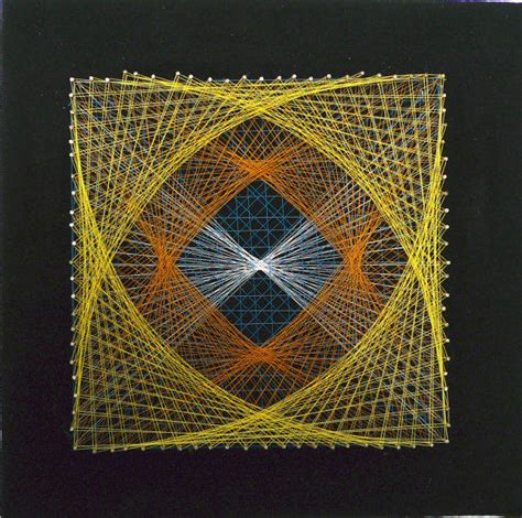 Square String - vintage string square geometric from lastmountainmisc