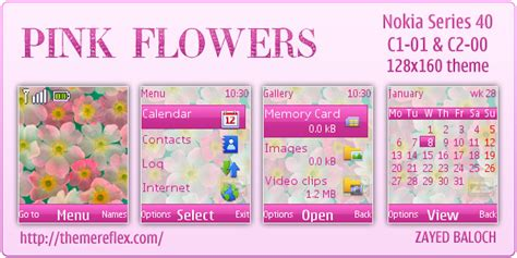 girl themes c1 pink flower theme for nokia c1 01 c2 00 themereflex