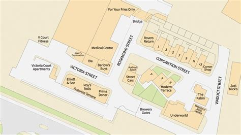 street layout maker coronation street is officially mapped by ordnance survey