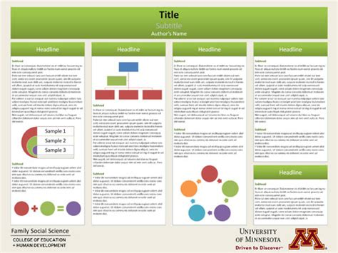 good templates for posters poster template research poster presentations pinterest