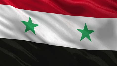 Syiria Green waving flag of syria with two green representing