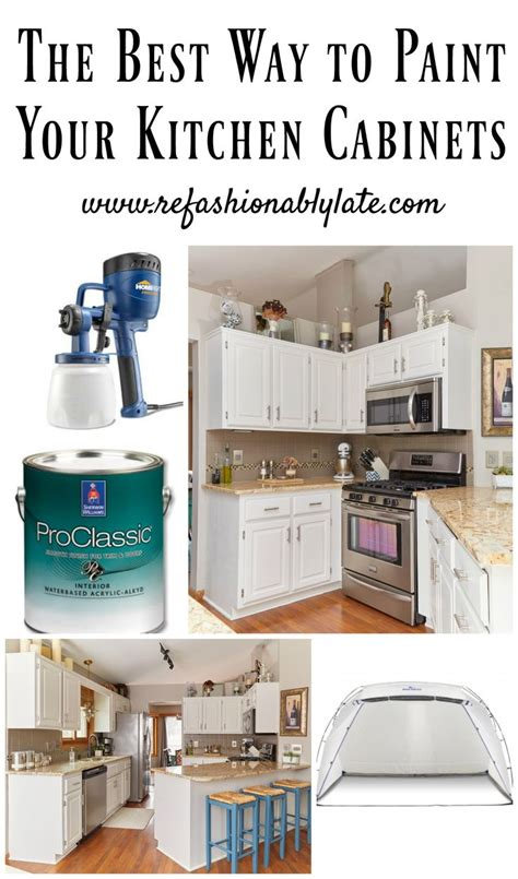 Easy Way To Paint Kitchen Cabinets The Best Way To Paint Your Kitchen Cabinets The O Jays To And Cabinets