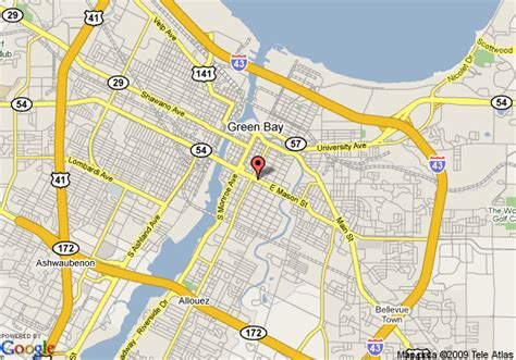 green bay map map of candlewood suites green bay green bay