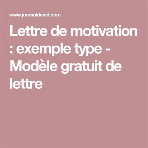 Saisir Lettre De Motivation Sur Apb les 25 meilleures id 233 es concernant exemple lettre de