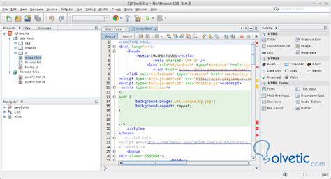 tutorial netbeans html5 netbeans crear proyectos html5 con plantillas y plugin