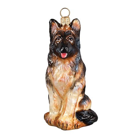 joy to the world quot german shepherd quot holiday ornament