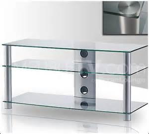 table tv en verre table tv verre roulettes