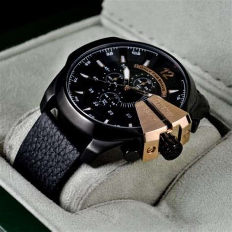 diesel only the brave chronograph black gold royal