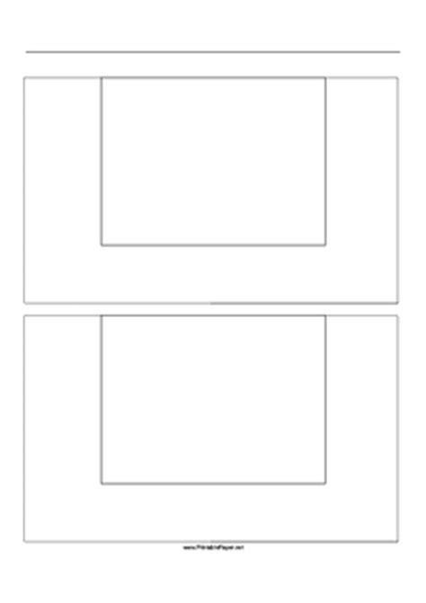 printable paper net storyboard printable storyboard with 1x2 grid of 4 3 full screen