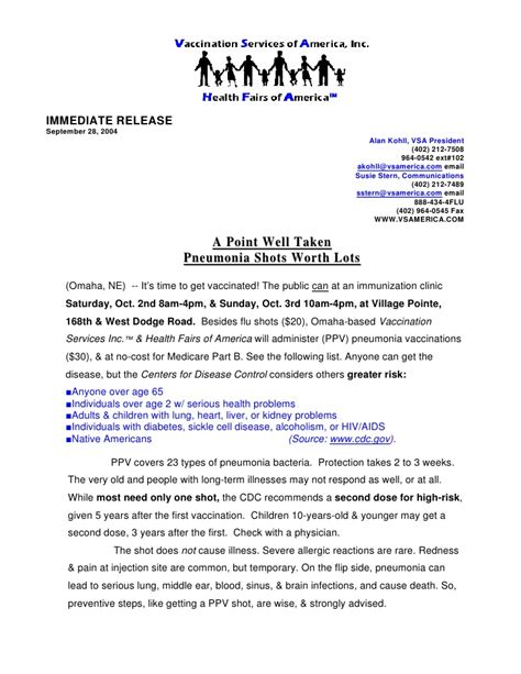 press news news release sle 1 press releases services omaha ne