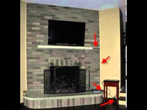 mount tv on brick fireplace hide wires tv wires