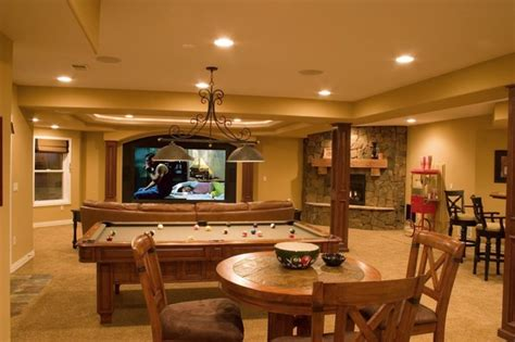 finished walkout basement lone tree walk out finished basement with theater bar pool table traditional basement