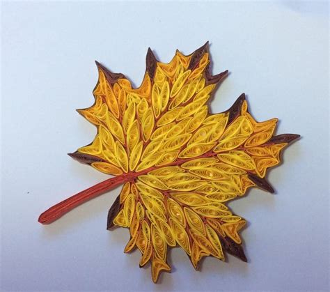 Leaf Pattern Quilling | 67 best images about autumn quilling on pinterest