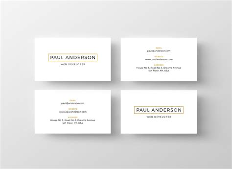 calling card website template gallery of free business card templates for architects 9