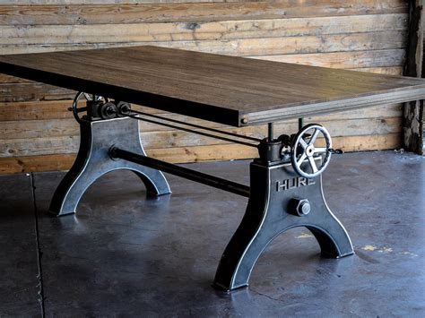 Kitchen Islands With Seating For 3 Hure Crank Table Vintage Industrial Furniture