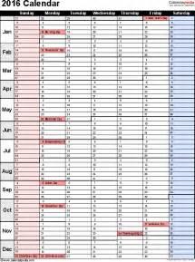 Slovakia Calendario 2018 2016 Calendar Pdf 16 Free Printable Calendar Templates