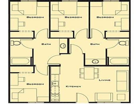 plans design small 4 bedroom house plans smallest 4 bedroom house