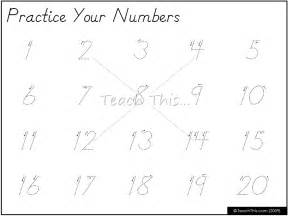 practice your numbers 1 20 printable maths teacher