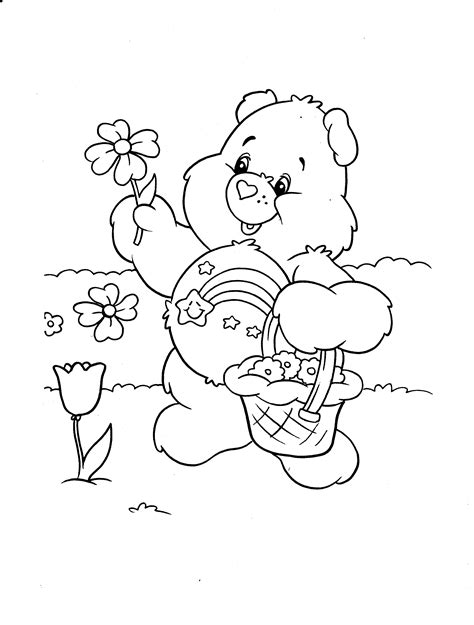 spring bear coloring pages spring care bear coloring pages coloringsuite com