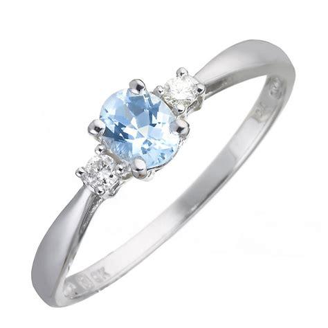 9ct white gold aquamarine and ring h samuel