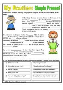 my routine simple present tense worksheet