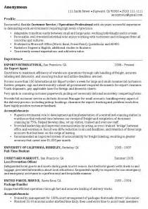 Resume Profile Samples Operations Manager Resume Example Operations Professional