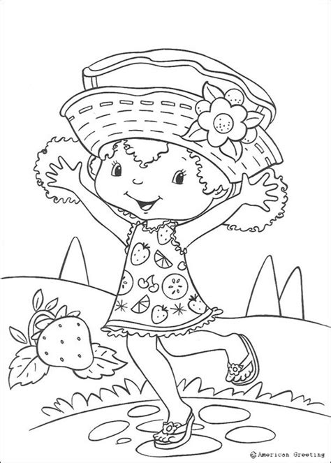 strawberry shortcake coloring pages happy orange blossom