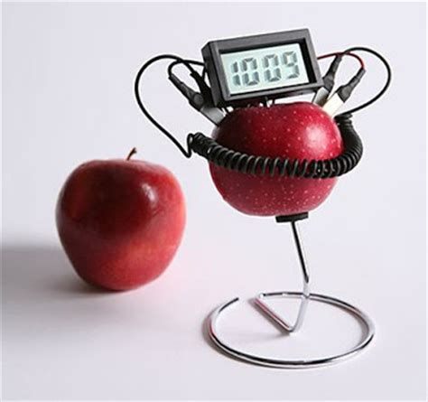 Fruit Powered Clock by Pictures Jokes Sms Poems Stories All