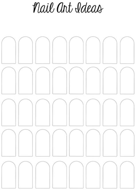 nail shape template printable nail template flickr photo