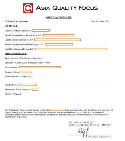 certification in letter of credit letter of credit for importers the certificate aqf