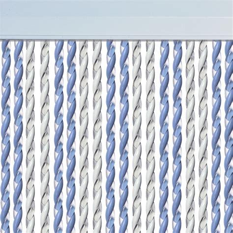 rideau de porte mar bleu ciel blanc rideau mouche mar